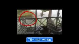 FULL LENGTH Tropical Storm Gonzalo hit Antigua (Hour-by-Hour)