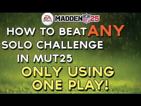 Madden ultimate team quot how to beat any solo challenge using only one