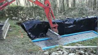 Installation /Fosse Septique /Septic Tank with difficult access