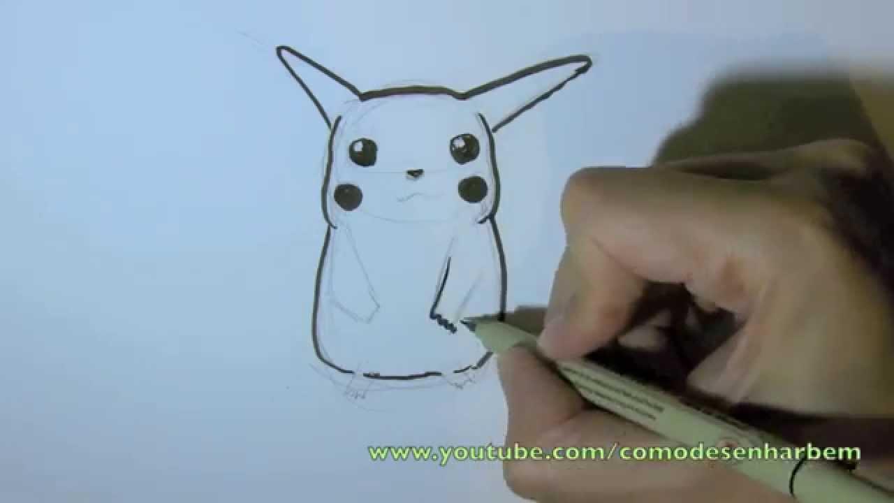 Como Desenhar O Pokemon Pikachu Passo A Passo Facil Youtube