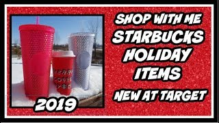 Shop With Me New Starbucks Holiday Items at Target 2019