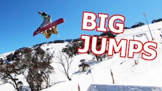 Hitting Big Jumps Snowboarding - Perisher, Australia