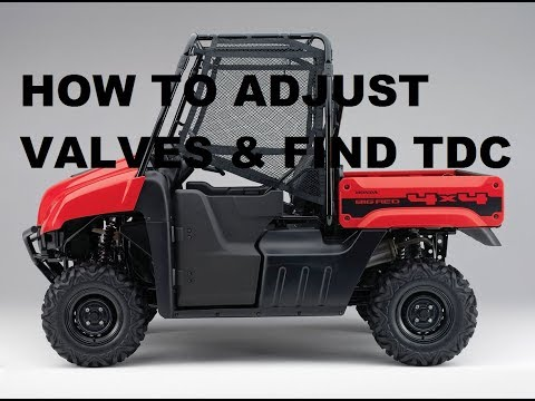 HOW TO Adjust Valves & Find TDC On Honda Big Red MUV 700 4x4 Utility
