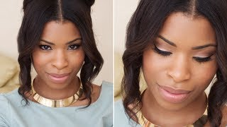 Sultry Eyes, Peachy Cheeks & Nude Lips | MAKEUP