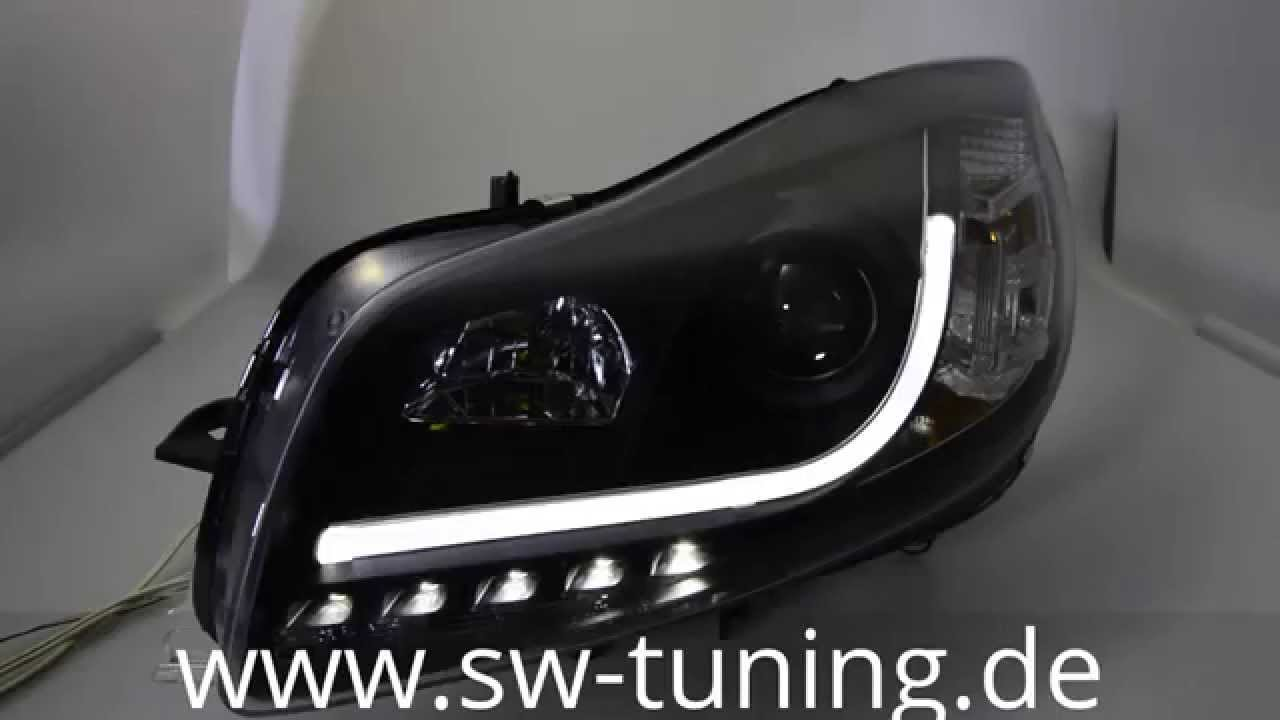 sw drltube scheinwerfer opel insignia 08 13 black led tfl sw tuning youtube. Black Bedroom Furniture Sets. Home Design Ideas