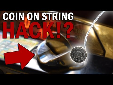 HACKING AN ARCADE MACHINE WITH A COIN ON A STRING - WILL IT WORK?