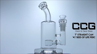 """CCG 7"""" Straight Can w/ Seed of Life Perc"""
