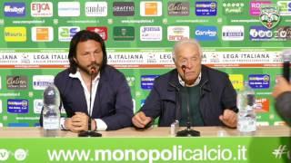 Monopoli-Melfi, conferenza stampa di Laruccia e Laricchia