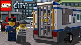 Lego Police Car. Sport cars and Fire truck - Android Game My City