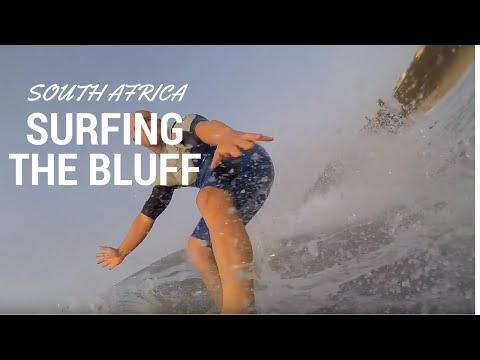 Surfing the bluff in Durban South Africa