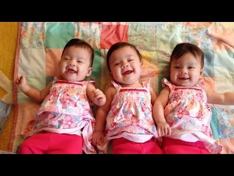 Funny Triplet Babies Laughing Hysterically Compilation 2019 - Cute Triplet Babies And Quadruplets