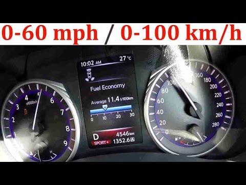 2017 Infiniti Q50 Red Sport 400 Hp 0 60 Mph 100 Km H Acceleration