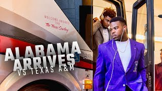 Watch as Alabama arrives at Kyle Field to face Texas A&M