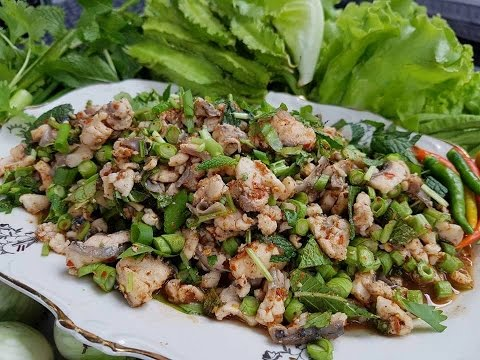 How to make Koi pa  Laos Food ກ້ອຍປາ