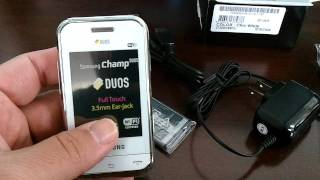SAMSUNG E2652 CHAMP DUOS Unboxing Video - Phone in Stock at www.welectronics.com