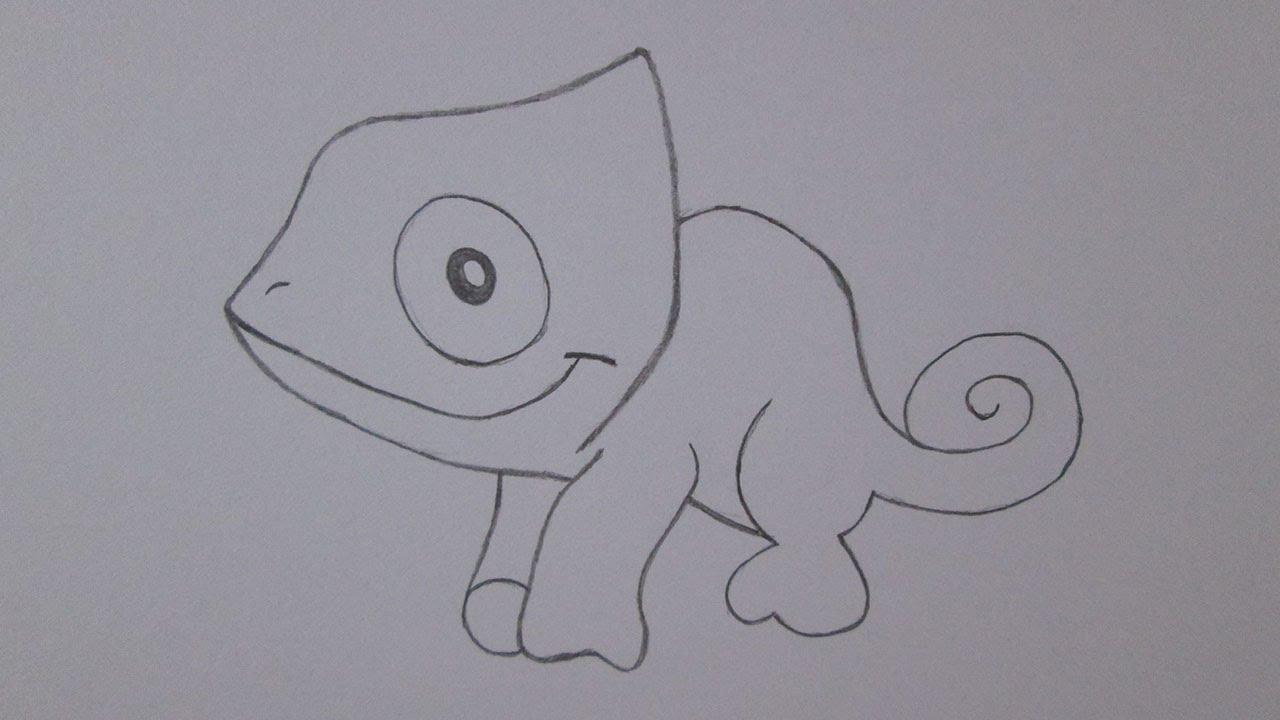 Cómo Dibujar Un Camaleón Youtube