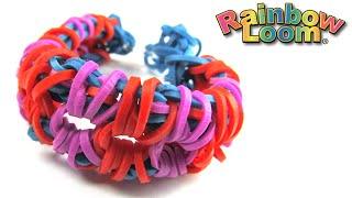 Как плести браслет из резинок | how to weave rainbow Loom bracelet