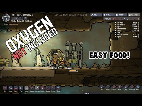 Oxygen Not Included Tutorial - Easy Food!