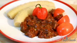 How To Make Brown Stewed Liver | Recipes By Chef Ricardo