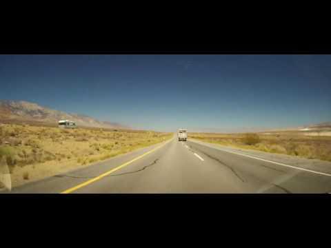 Driving around Inyo County, California in the Mojave Desert
