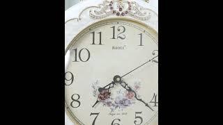 고급 유럽식 양면 벽걸이 시계 모던 특이한 무소음 인테…