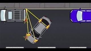 Параллельная парковка с автомобилями - уроки вождения автомобиля видео 2019.