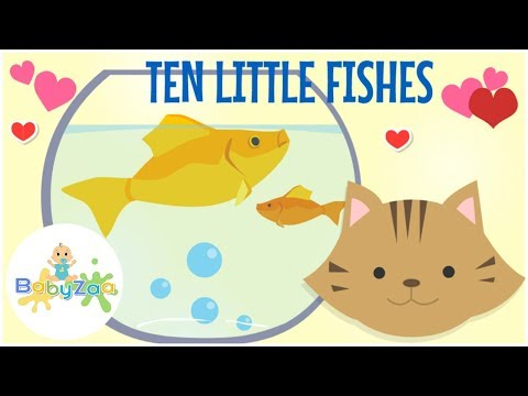 TEN LITTLE FISHES | Children Song Nursery Rhymes | Karaoke No Vocal