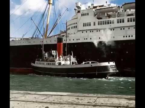 RMS Queen Elizabeth - Interior, Cunard Line , Mood Indigo, Big Band Music