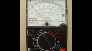 How to find resistance using Analog Multimeter SAMWA YX-360tr