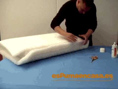 Cómo envolver con fibra un almohadón de sofá o tresillo   YouTube