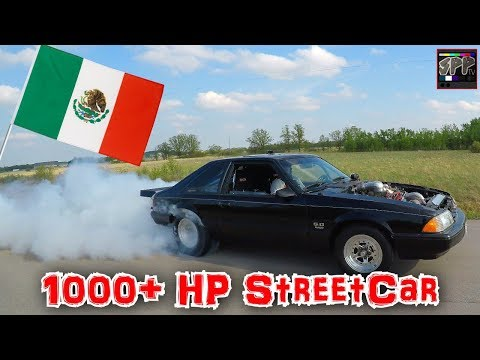 TEST HITS IN MEXICO BEFORE THE SPP NO PREP RACE | Clayton's Turbo SBF Mustang on the STREET