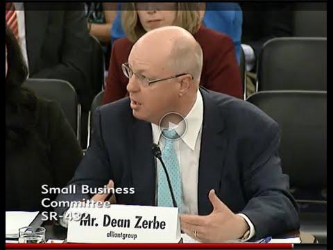 alliantgroup's Dean Zerbe Testifies on Small Business Tax Reform