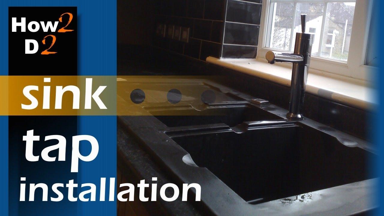 sink tap installation how to install fasten kitchen sink tap video - Kitchen Sink Tap Fittings