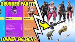 😍GRÜNDER PAKETE SIND DA! | GRÜNDER-WAFFEN & HELDEN | FORTNITE: RETTE DIE WELT