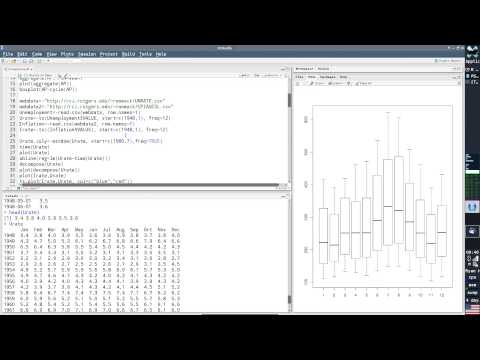 Time Series in R Session 1.1 (Basic Objects and Commands)
