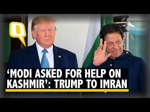 'Can Mediate on Kashmir': Trump During Imran Khan's Visit | The Quint