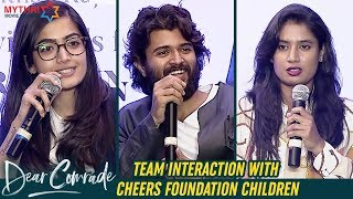 Dear Comrade Team Interaction With Cheers Foundation Children | Vijay Deverakonda | Rashmika | MMM