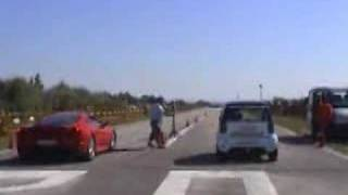 Original Filmagem Smart diablo Vs Ferrari