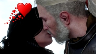 The Witcher 3- Geralt and Yennefer have a heart to heart talk. Yennefer kiss. (The Last Wish)