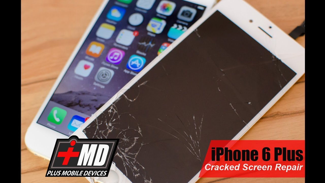 5c21d9e05636b9 iPhone 6 Plus Cracked Screen Repair - YouTube
