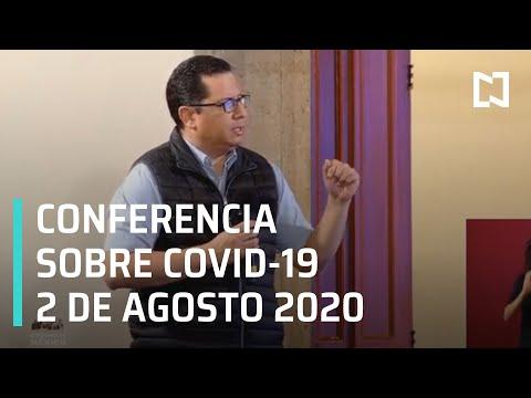 Conferencia Covid-19 en México - 2 de Agosto 2020