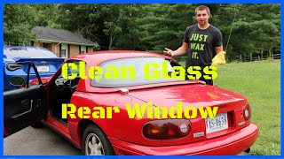 How to Clean Car Glass - Rear Window Glass Cleaning - Streak Free
