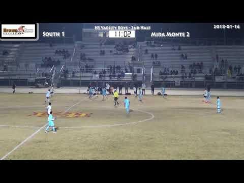 20180116 HS Varsity Boys soccer   South v Mira Monte 2nd Half