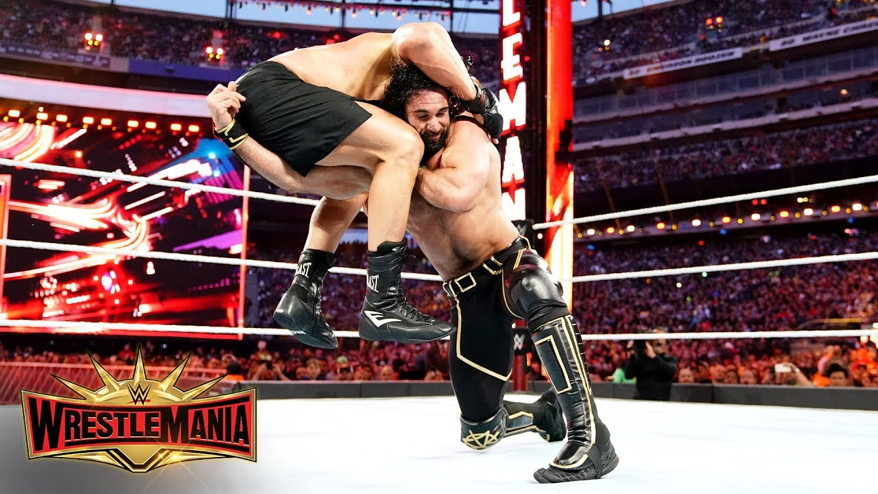 Seth Rollins goes low against Brock Lesnar in brutal war: WrestleMania 35 (WWE Network Exclusive)