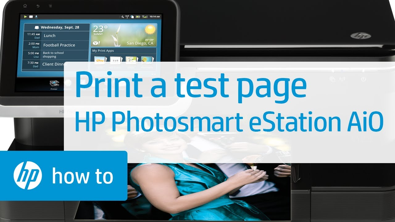 Printing a Test Page HP smart eStation All in e Printer