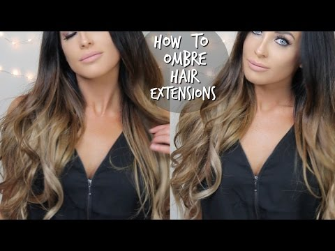How to diy ombre balayage hair extensions at home youtube how to diy ombre balayage hair extensions at home solutioingenieria Image collections