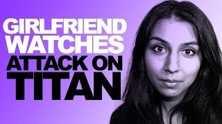 Girlfriend Watches Attack on Titan Thumbnail