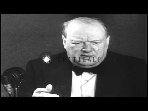 Lord of Admiralty Churchill speaks to Britain's stronger position during World Wa...HD Stock Footage