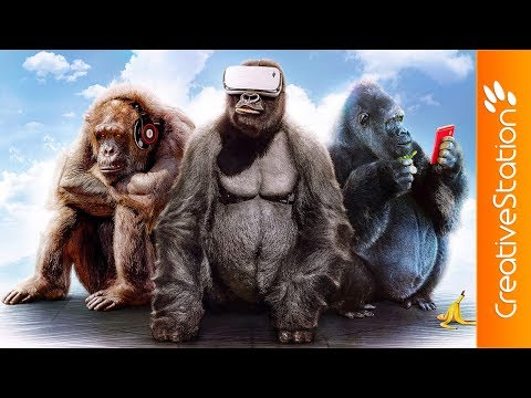 Three Wise Monkeys - Speed art (#Photoshop) | CreativeStation