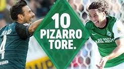 Mit Freistoß-Tor gegen Hertha BSC: Claudio Pizarro - el Grande, LEGENDE, G.O.A.T. | SV Werder Bremen